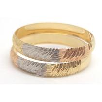 Joalheriavip Anéis Aparadores Aliança Ouro 18k 3 Tons Aro18