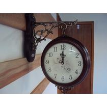 Relógio Parede Sx Estação Dupla Face Retrô Garantia 3 Anos