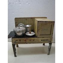 Antiga Cozinha De Lata Da Metalma - Brinquedo Antigo Fogão