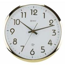 6436 Relógio Parede 32 Cm Sweep Contínuo Sem Tic-tac Herweg