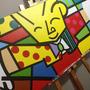 Quadros Romero Britto - Diversos Temas - Pintados Á Mão