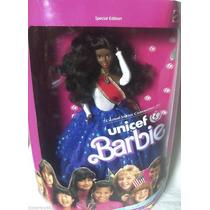 Boneca Barbie Unicef Negra Ano 1989 Mattel 4770