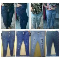 Calças Hot Pants E Rasgadas Plus Size Do 44 Ao 54!!!