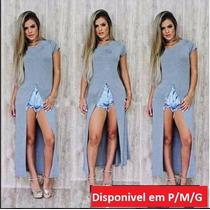 Maxi Blusa Vestido Fenda Blusão Anitta Blogueiras Instagram