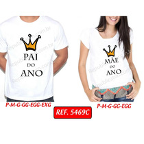 Kit T-shirt Gestante + Camiseta Masculina - Pai E Mãe Do Ano