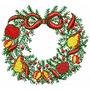 Guirlandas De Natal - Coleção De Matriz De Bordado