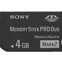 P4 Cartão De Memória Memory Stick Pro Duo Sony 4gb Dsc W180