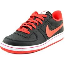 Nike Legend Mulheres Rodada Toe Couro Sapato Preto Basqueteb