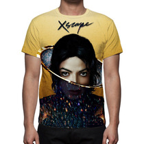 Camisa, Camiseta Michael Jackson Xscape - Estampa Total