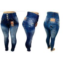 Calça Morena Rosa Hot Pants Azul Esc E Az.claro