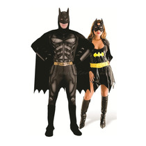 Fantasia Casal Batman E Batgirl Luxo Sulamericana Combo