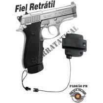 Fiel Tático Liso Retrátil Para Revolver E Pistolas Padrão Pm