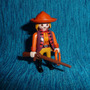 Playmobil-277 - Cowgirl Com Rifle E Laço Velho Oeste