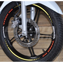 Friso Adesivo Refletivo Roda Tricolor Mod03 Moto Honda Titan