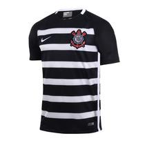 Camisa Original Do Corinthians 2015 Nike Timão Listrada Nova