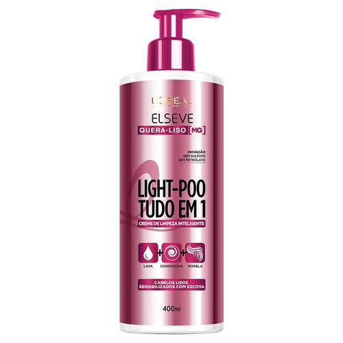 Creme De Limpeza Inteligente Elseve Light - poo Quera - liso 400