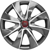Jogo Calota Aro 13 Grap Silver Fiat Palio Uno Siena -4 Peças