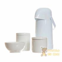 Garrafa Térmica, Potes E Molhadeira Porcelana Bebê Infantil