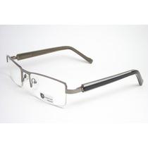 Armação Óculos Masculino Prata Escuro Quadrado Rs1688 2 Mj