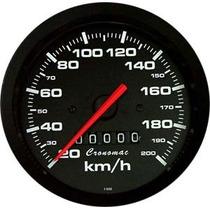 Cronomac 100mm Street Preto - Velocímetro 200km/h
