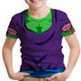 Camiseta Infantil Piccolo Daimaoh Dragon Ball Z Fantasia