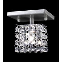 Plafon De Cristal Quadrado 12x12 - Lustre Sala