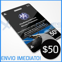 Cartão Psn $50 - Psn Card $50 - Playstation Network Card $50