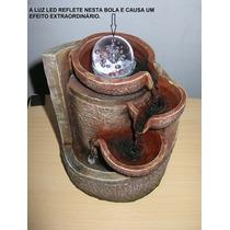 Fonte Decorativa Em Resina - Luz Led - 3 Quedas Em Cascata