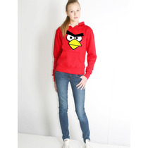Blusa Angry Birds Moletom Canguru
