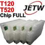 Cartucho Recarregavel Hp Designj Plotter T520 T120 Chip Full