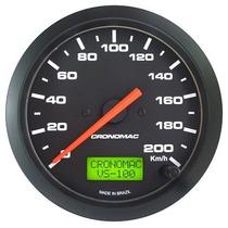 Cronomac 100mm Street Preto - Velocímetro Eletrônico