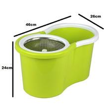 Spin Mop Cesto Em Inox Balde Mágico 360° Igual Da Tv