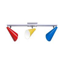Spot Trilho Direcionável Color - Lustre Sala - Cozinha - Mun