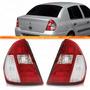 Par Lanterna Traseira Clio 2004 2005 2006 2007 Sedan Bicolor