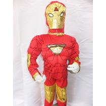 Fantasia Infantil Homem De Ferro Iron-man Com Músculo