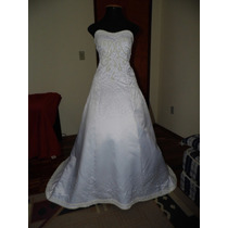 Vestido Noiva Seda Bordado Casamento