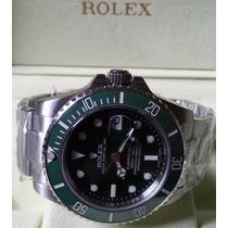 Relógio Eta 2836 Modelo Submariner Dial Verde