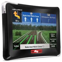 Gps Automotivo Aquarius Guia Quatro Rodas Mp3 Sd Navegador