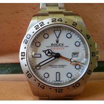 Relógio Eta 2836 Modelo Explorer Ii Dial Branco 42mm