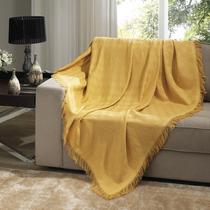 Manta Para Sofá Dohler London 1,60x2,20m 100% Algodão Gold