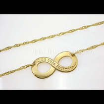Colar Infinito Folheado Ouro 18k Dourado C/ Garantia