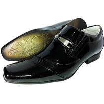Sapato Social Couro Moda Tendencia Sofisticado Verniz Frete