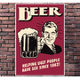 Poster Exclusivo Beer Cerveja Retro Vintage Tamanho 30x42cm