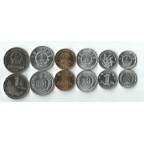 Lote 6 Moedas Da China 1,2,5 Fen; 1,5 Jiao; 1 Yuan Fc