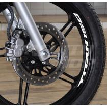 Kit Adesivo Roda Large Refletivo Moto Honda Titan 150 Mod01