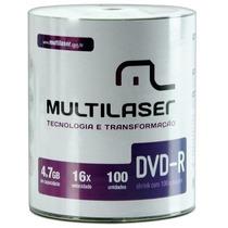 Dvd-r Multilaser Pino Com 100 Unidades Virgem