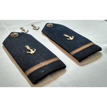 Platina E Insígnia De Gola - 2o Tenente Marinha - Antiga