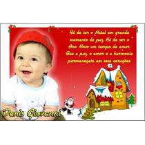 20 Cartão De Natal Personalizado Bebê Familia Empresa