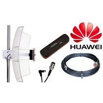Kit Internet Rural 3g Modem Huawei E173 Cabo De 10 Metros