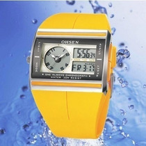 Relógio Dupla Analógico Digital Masculino Ohsen 4 Cores